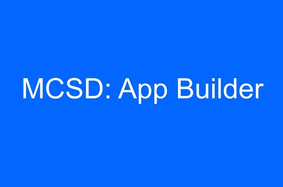 Sd Technologies Training Mcsd App Builder